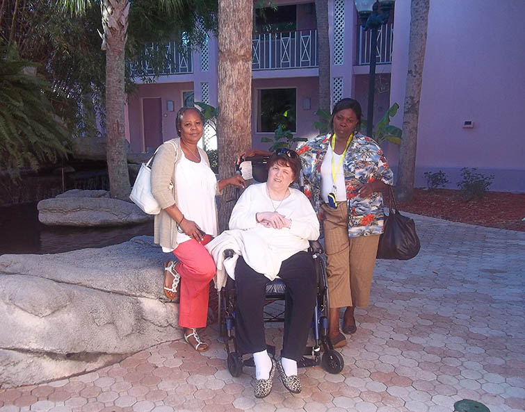 Our certified patient advocates and one of our patients.