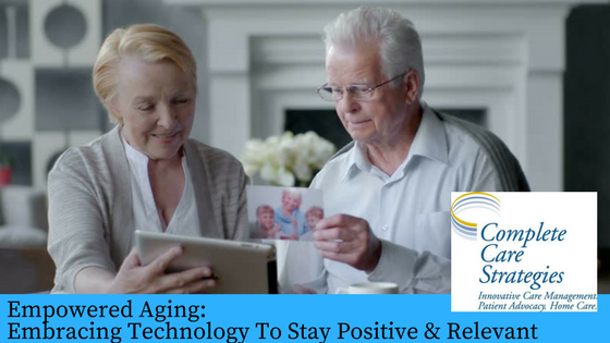 Senior adults using technology to connect with family